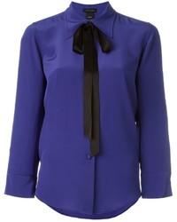 Chemise en soie bleue Marc Jacobs