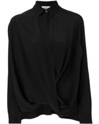 Chemise en soie noire Moschino