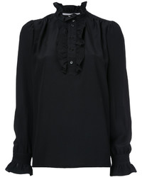 Chemise en soie noire Stella McCartney