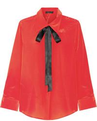 Chemise en soie rouge Marc Jacobs