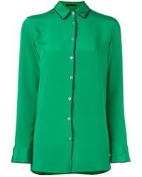 Chemise en soie verte Etro