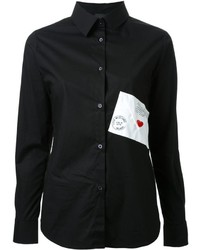 Chemise noire Love Moschino