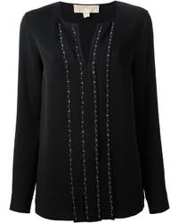 Chemise ornée noire