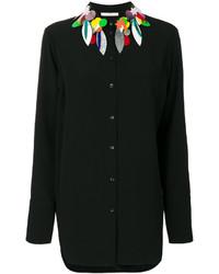 Chemise ornée noire Christopher Kane