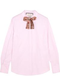 Chemise ornée rose Gucci