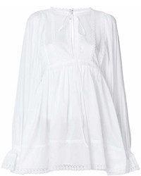 Chemise paysanne à volants blanche Dolce & Gabbana