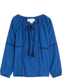 Chemise paysanne bleue
