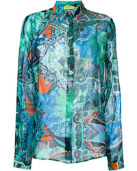 Chemise turquoise Versace