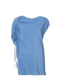 Chemisier à manches courtes bleu Lanvin