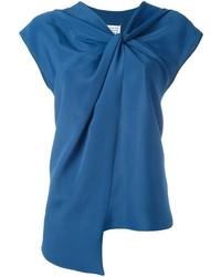 Chemisier à manches courtes bleu Maison Margiela