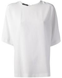 Chemisier à manches courtes en soie blanc Dolce & Gabbana