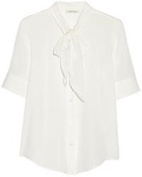 Chemisier à manches courtes en soie blanc Marc Jacobs