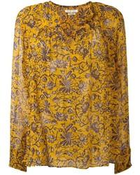 Chemisier à manches longues à fleurs orange Etoile Isabel Marant