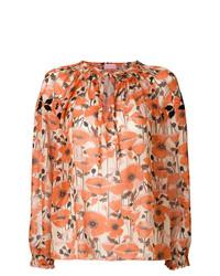 Chemisier à manches longues à fleurs orange Giamba