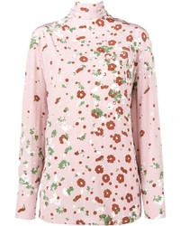 Chemisier à manches longues à fleurs rose Valentino