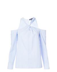 Chemisier à manches longues à rayures verticales bleu clair Rag & Bone