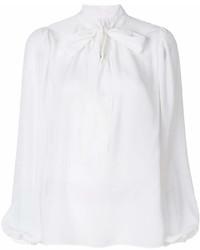 Chemisier à manches longues blanc Dolce & Gabbana
