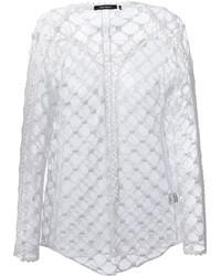 Chemisier à manches longues en crochet blanc Isabel Marant