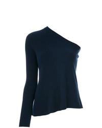 Chemisier à manches longues en tricot bleu marine Cashmere In Love