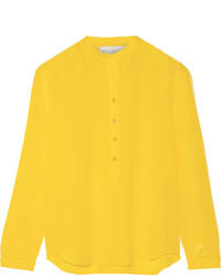 Chemisier à manches longues jaune Stella McCartney