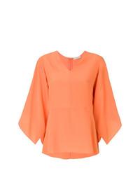 Chemisier à manches longues orange Etro