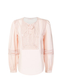 Chemisier à manches longues rose Tory Burch