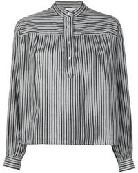 Chemisier à rayures horizontales gris Etoile Isabel Marant