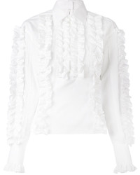 Chemisier à volants blanc Dolce & Gabbana
