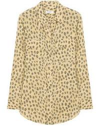 Chemisier boutonné imprimé léopard marron clair Equipment