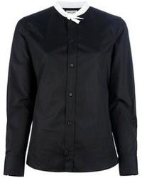 Chemisier boutonné noir et blanc Saint Laurent