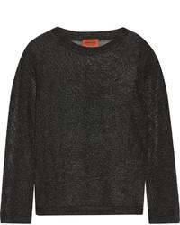 Chemisier en crochet en tricot noir Missoni