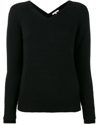 Chemisier en laine en tricot noir Helmut Lang