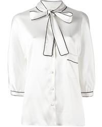 Chemisier en soie blanc Dolce & Gabbana