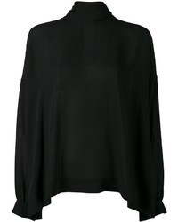 Chemisier en soie noir Balenciaga