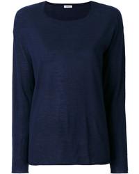 Chemisier en tricot bleu marine P.A.R.O.S.H.