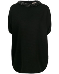 Chemisier en tricot noir Armani Collezioni