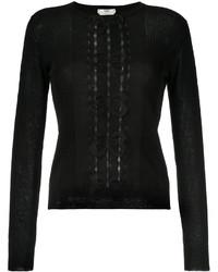 Chemisier en tricot noir Fendi