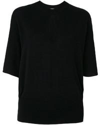 Chemisier en tricot noir Lanvin
