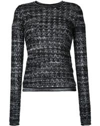 Chemisier en tricot noir Missoni