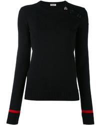 Chemisier en tricot noir Saint Laurent