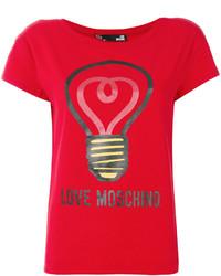 Chemisier imprimé rouge Love Moschino