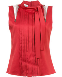 Chemisier plissé rouge Moschino