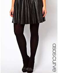 Collants en laine noirs Asos Curve