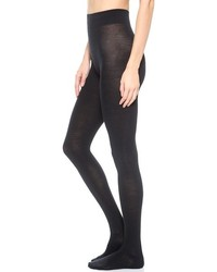 Collants en laine noirs Falke