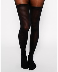 Collants en laine noirs Gipsy