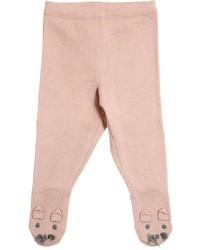 Collants en tricot roses Stella McCartney