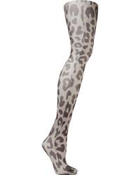 Collants imprimés léopard gris Acne Studios