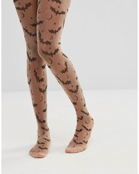 Collants imprimés marron Asos