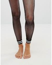 Collants résille à rayures horizontales noirs Asos