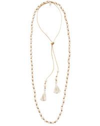 Collier de perles beige Chan Luu